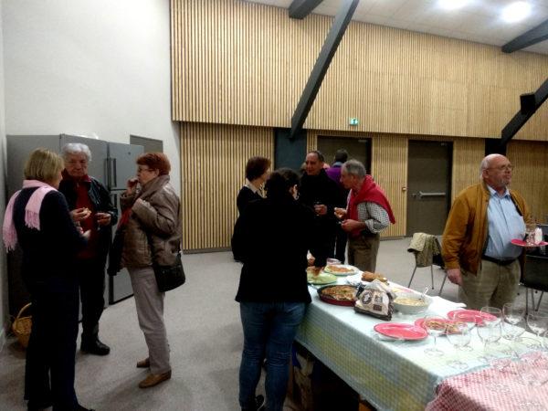 Le buffet preparé par les membres de l'association. @Laura MIRANTE