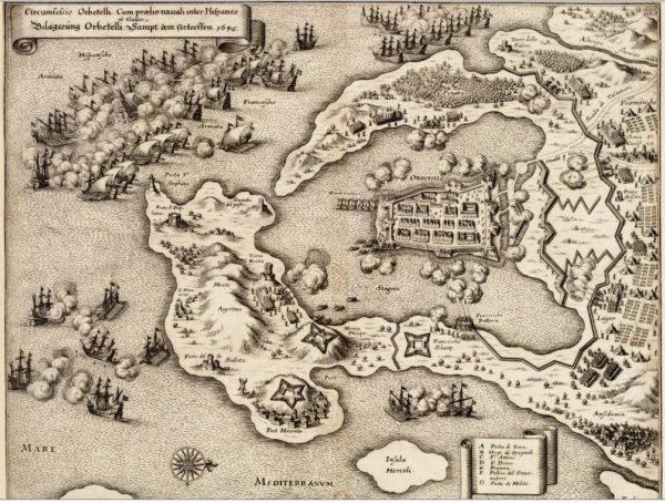 La bataille navale et le siège d'Orbetello, 1646. © Wikipedia